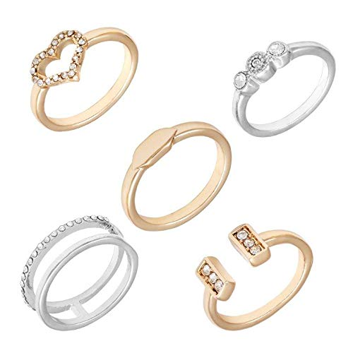GUESS 5 PC Dainty Stack Rings