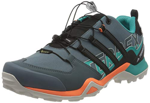 adidas Herren Terrex Swift R2 Gore-TEX Walking Shoe, Legacy Blue/Core Black/Signal Orange, 45 1/3 EU