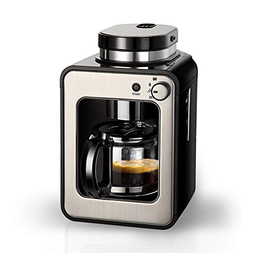 Bean alla Coppa Grind e Brew Macchina per caffè automatica Burr Grinder Anti-Drop 4 Coppe macchina da caffè con Coffee Pot, acciaio inossidabile, Smart Brew, 600 W