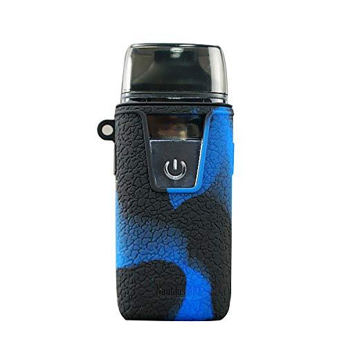 KKmod Silicone Case for Aspire Nautilus Aio, Protective Texture Cover Sleeve Shield for Aspire Nautilus AIO Mod Kit (Black/Blue)