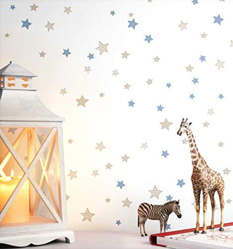 NEWROOM Kindertapete weiß Sterne Sternchen Kinder Vliestapete Vlies Kindertapete Kinderzimmer Babytapete Babyzimmer Romantisch