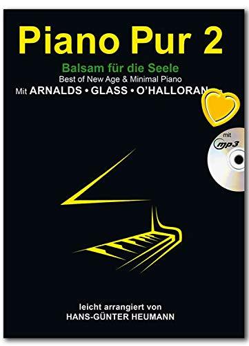 Piano Pur Band 2 – Bálsamo para el alma – 30 arreglos de Heuman para piano – Ideal para estudiantes de piano y pianistas más experimentados – Libro de partituras con colorido clip en forma de corazón