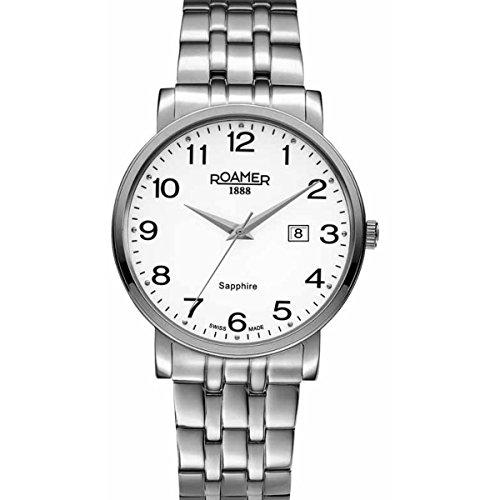 Roamer, orologio da polso da uomo, analogico, al quarzo, in acciaio inox,...