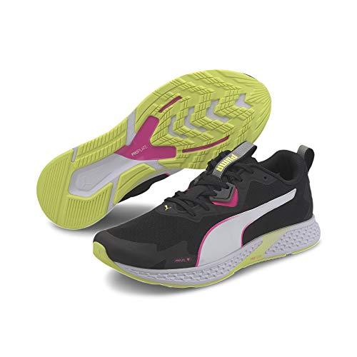 PUMA Speed 500 2 WNS, Zapatillas para Correr de Carretera para Mujer, Negro Black/Fizzy Yellow, 41 EU