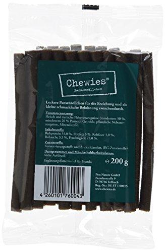 Chewies Pansenröllchen für Hunde - 2 x 200 g - weiche Kaustangen - Kaurollen mit Pansen - Hundeleckerli fürs Training (400 g)