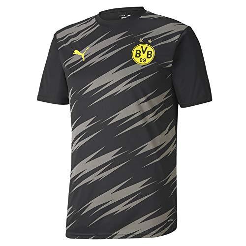 PUMA Herren BVB Stadium Jersey T-Shirt, Black-Asphalt-Home, M