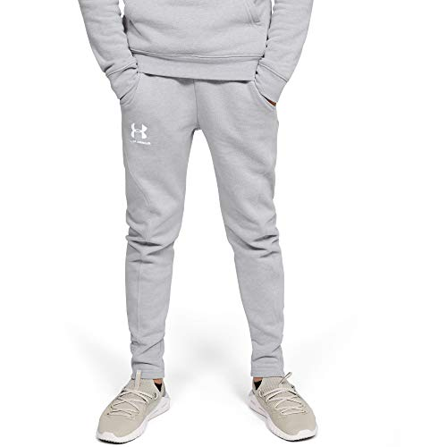 Under Armour Jungen Hose Rival Solid Jogger, Grau, YLG, 1348489-011