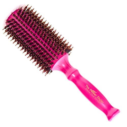 """Cepillo de pelo de cerdas de jabalí redondo, para alisar el cabello o rizar el cabello, el mejor cepillo de secador para mujeres, los mejores productos para el cabello (Grandes) de """"The Power Styler"""""""
