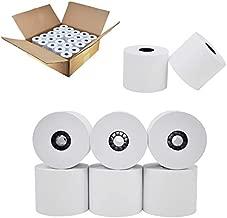 24/Pack Paper Rolls, One Ply Cash Register/Add Roll, 2 1/4 x 150 ft, White (24 Rolls) Adding Machine/Calculator Roll 10 key tape paper roll