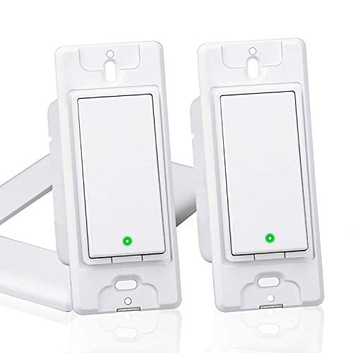 meross Smart WiFi Light Switch, Wall Switch, Compatible with Amazon Alexa, Google Assistant and IFTTT, Remote Control, Schedules, Timer, No Hub Needed - Upgrade Version 2 Pack