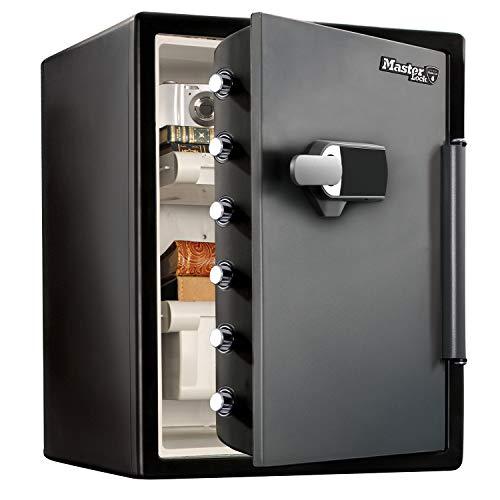 MASTER LOCK Tresor [Feuer- und Wasserfest] [56,5L] [elektronische Kombination und Alarm] – LFW205TWC – Für Ausweise, A4-Dokumente, Laptop