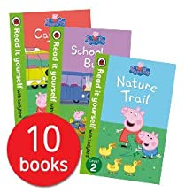 Peppa Pig Read it Yourself with Ladybird Collection 10 Books Set (Level 1-2) (Little Creatures, Fun at the Fair, Recycling...