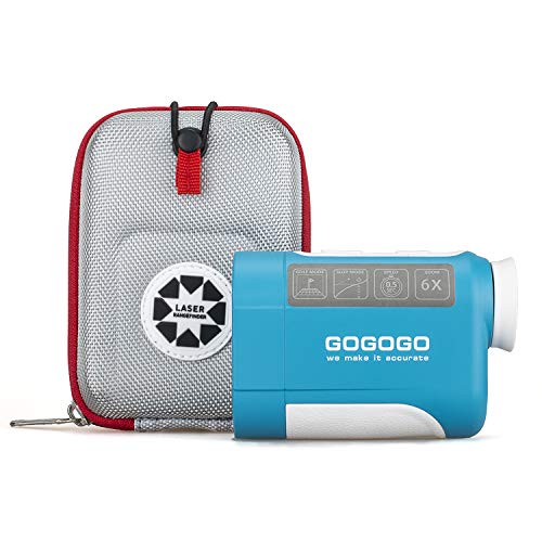 Gogogo Sport 650/900Yard Golf Rangefinder, 6X Magnification Laser Range Finder, with Pinsensor -...