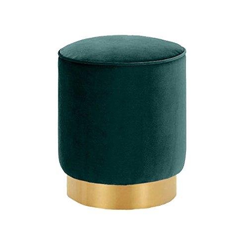 YLCJ voetenbank voor kaptafel gewatteerde voetenbank elegant woonkamer luxe slaapkamer groen flanel (afmetingen: 40 cm x 35 cm) 40cmx35cm