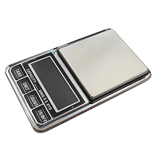 Liaiqing Cocina Escala electrónica Escala Digital Escala de precisión gram Peso para la Cocina Peso Balance Básculas de Cocina (Color : Black, Load Bearing : 600g)