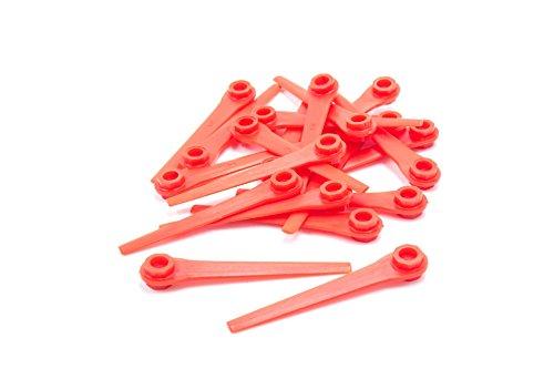 vhbw 20x Cuchillas de Recambio Compatible con Gardena EasyCut Li-18/23 R (Art.-Nr. 9823-20) cortadora de césped -Recambio, Rojo, plástico