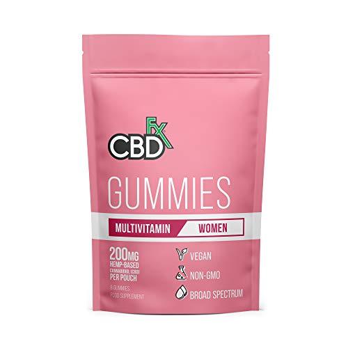 CBDfx Women's Multivitamin CBD Gummies (8 Gummy Pouch) - 200mg CBD