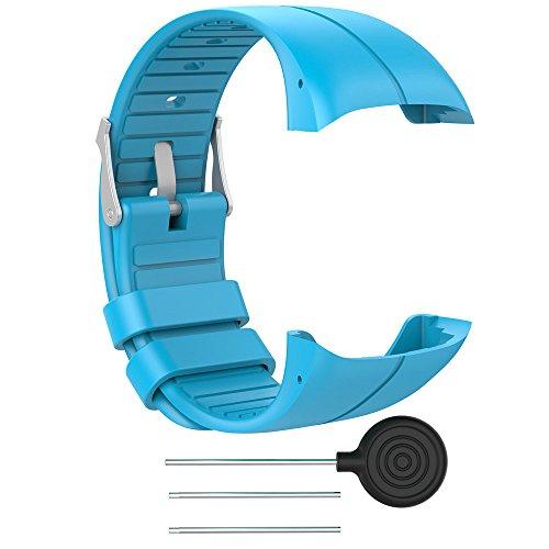 Für Polar M400 M430 Fitness Watch Mode Silikon Ersatz Armband Armband Smart Band Zubehör Ersatzband Bracelet Handgelenk Band Replacement Wristband (Blau)