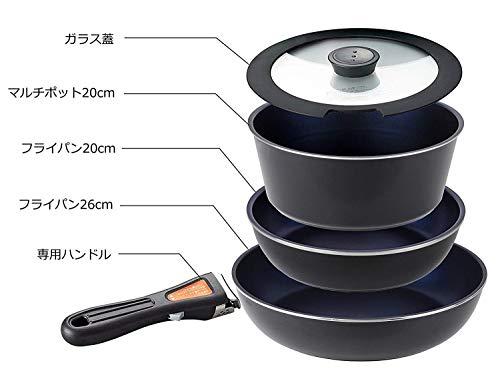 パール金属『フライパン鍋5点セット5IH対応(HB-3976)』