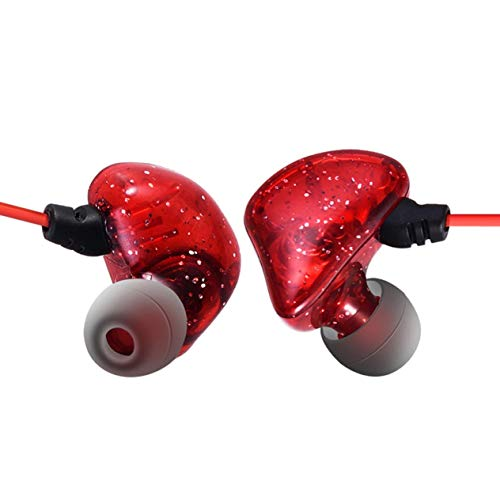 3 Meter Lange Linie In-Ear-Monitor Kopf Stereo High-Fidelity-Long-Line-Anker Live-Übertragung Karaoke-Ohrstöpsel-rot BCVBFGCXVB