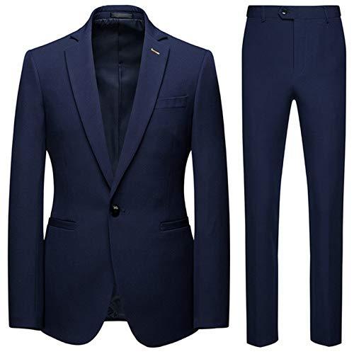 Set de 2 piezas de ropa de deporte para hombre, estilo casual, para el día 2020 azul marino 3XL 75/80 kg