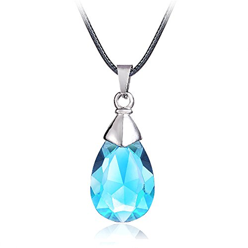 SAO Sword Art Online Yui's Heart Pendant Necklace for Asuna Yuuki cosplay - Black / Blue Crystal