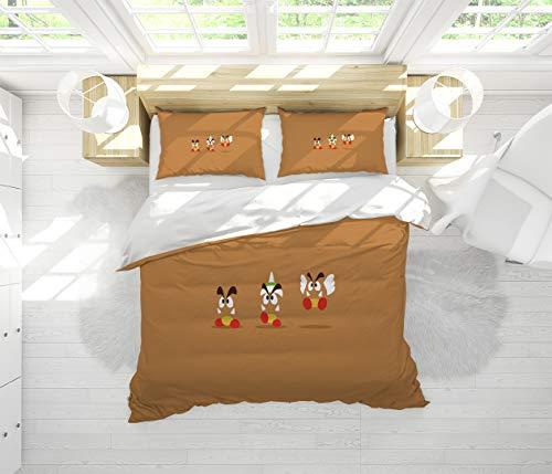 Super Mario Bros Sheet Set-3 Piece Set,Bedding Set Queen Size 1 Duvet Cover 2 Pillowcases