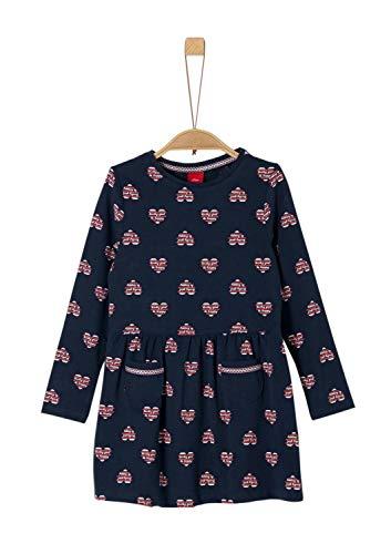 s.Oliver Mädchen 53.909.82.3001 Kleid, Blau (Dark Blue AOP 59a1), 128 (Herstellergröße: 128/REG)