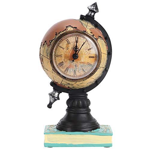 YIHEXUANkeji Reloj Globo Resina Relojes Decoración de Escritorio Adornos Decoración de Sala de Estudio Decoración Hogar Sala Escuela Oficina