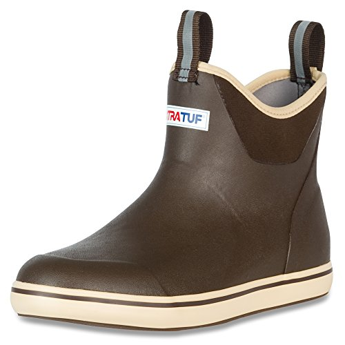 XTRATUF Performance Series 13' Men's Full Rubber Ankle Deck Boots, Chocolate & Tan (22734)