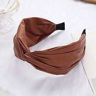 YJXUSHYQ Fashion Handmade PU Leather Bowknot Hairband Girls Bowknot Headband Wide Head Hoop Women Hair Accessories (Color...