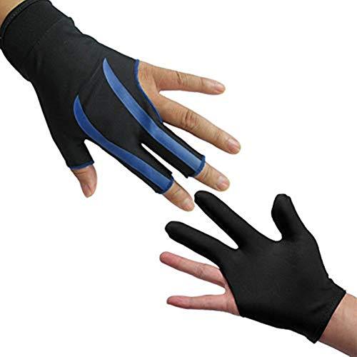 LHKJ 1 Stück 3-Finger-Handschuhe Billard Snooker Queue Handschuhe für Linke Hand