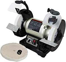 BUCKTOOL Professional Power Tools 8-Inch Dual Speed Cast Iron Base Bench Grinder TDS-200DS