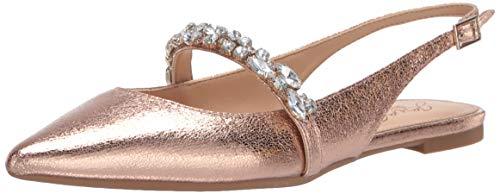 Jewel Badgley Mischka Women's BAMBI Shoe, Rose Gold Textile, 6 M US