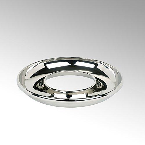 Lambert Saturnia Schale Alu rund klein vernickelt H6 D38cm Metallaccesoires, Silber, One Size