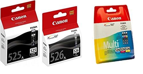 Canon CLI-526 Set 5 Canon Originalpatronen: je 1 x PGI-525BK, CLI-526BK, CLI-526C, CLI-526M, CLI526Y für Canon