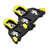 Thinvik Bike Cleats for Shimano SPD-SL System Pedals Compatible with SH11 Road Bicycle Replacement Cleats & Indoor Cycling for Three-Hole Cycling Shoes Men Women (6 Degree Float)