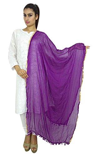 Indianbeautifulart Indian Dupatta Ansatz-Verpackung Chiffon Mischung lange Stola Chunni Werfen Troddelschal