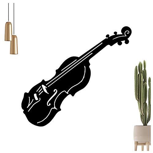 Kiwistar - Adhesivo decorativo para pared, diseño de violín, disponible en 6 tamaños