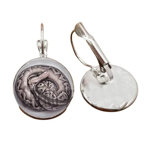 Serpiente animal cobra cristal cabujón hecho a mano DIY pendientes joyería