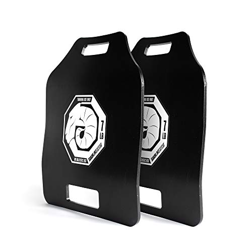 TRAINLIKEFIGHT Ultimate Triple Curve Weighted Plates 7lbs (14lbs Pair) - Juego de Placas lastradas de Peso de 3,17kg (6,34kg Total Pareja), sin Chaleco