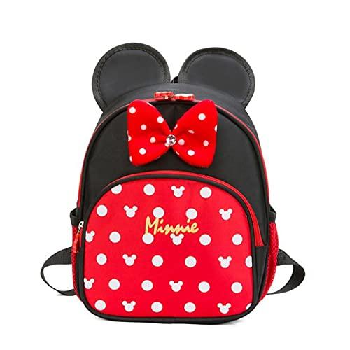 Tylyund Mochilas Mochila Escolar De Mickey De Disney Minnie Para Niños, Niñas, Mochila Para Bebés, Mochila Para Niños, Mochila Para Jardín De Infantes, Mochilas Escolares Para Niños