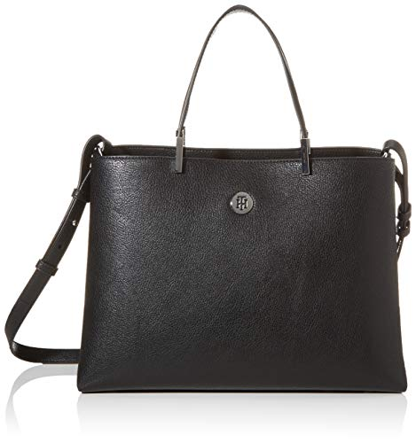 Tommy Hilfiger TH Core Satchel, Borse Donna, Nero (Black), 15 x 40 x 35 cm