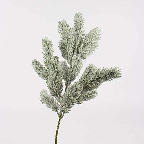 artplants.de Künstlicher Tannenzweig, PE Nadeln, beschneit, 55cm - Nadelbaumzweig - Kunstzweig