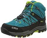 CMP – F.lli Campagnolo Kids Rigel Mid Trekking Shoe WP, Botas de Senderismo Unisex niños, Azul...