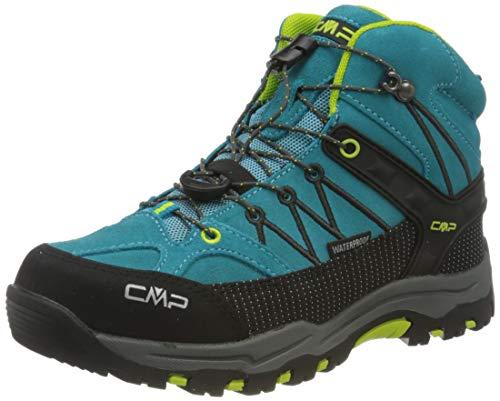 CMP – F.lli Campagnolo Unisex-Kinder Kids Rigel Mid Shoe Wp Trekking- & Wanderstiefel, Blau (RIF-Energy 22LE), 35 EU