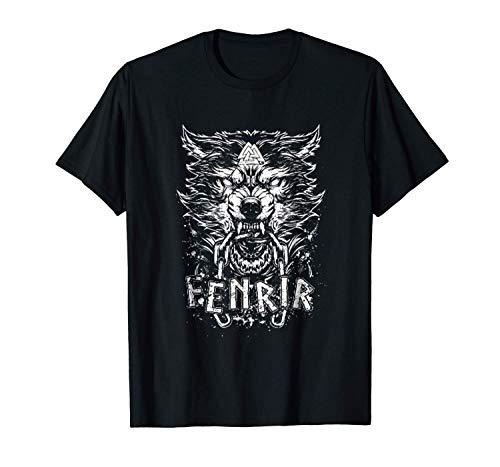 viking Odin avec nous T-shirt bleu Wolf Odin Valhalla Berserker