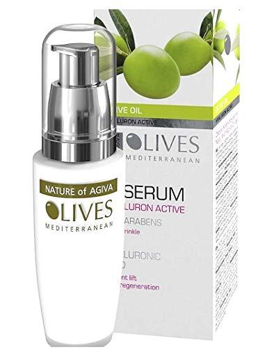 Preisvergleich Produktbild Oliven Hyaluron Active-Lift Anti-Falten Serum für reife Haut- mit Oliven,  Hyaluronsäure,  Vitamin E,  Calendula,  Algen - 30ml