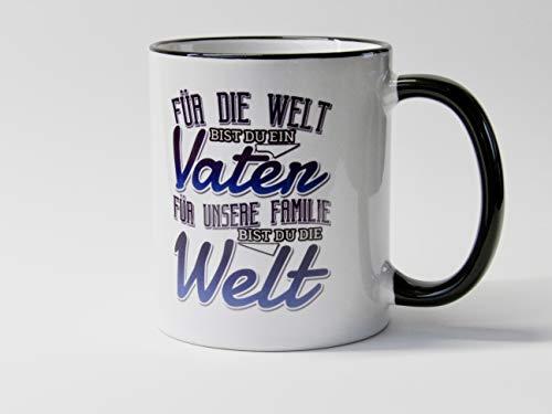 Papa für unsere Familie bist du die Welt Kaffee Tasse Geschenk zum Vatertag oder Geburstag für Papa oder Opa