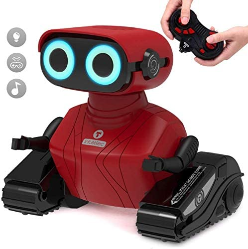 GILOBABY Remote Control Robot, 2.4GHz RC Robot Toy for Kids with Shine Eyes, Dance Moves, Gift for Kids Boys Girls 5-8(Red)